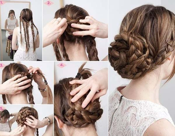 Everyday hairstyles for themselves. Photo # 2