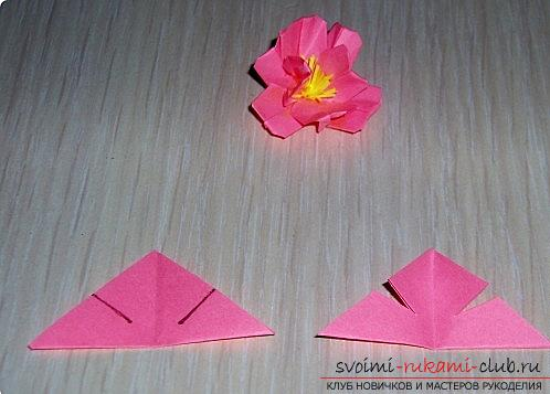 Sakura flowers in origami technique. Photo №4
