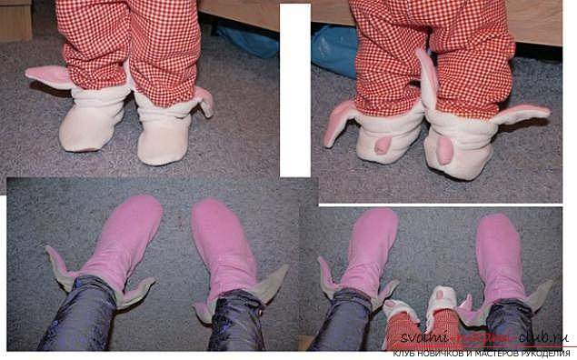 Making warm slippers with your own hands .. Photo # 2