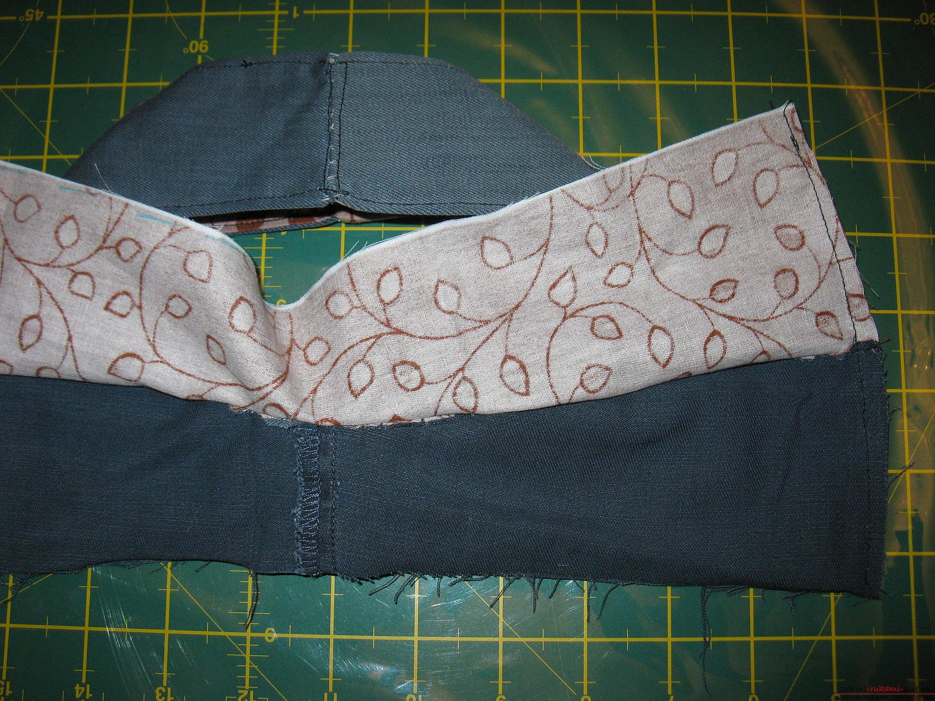 Stapsgewijze foto's van de les over het naaien van een boodschappentas. Fotonummer 11