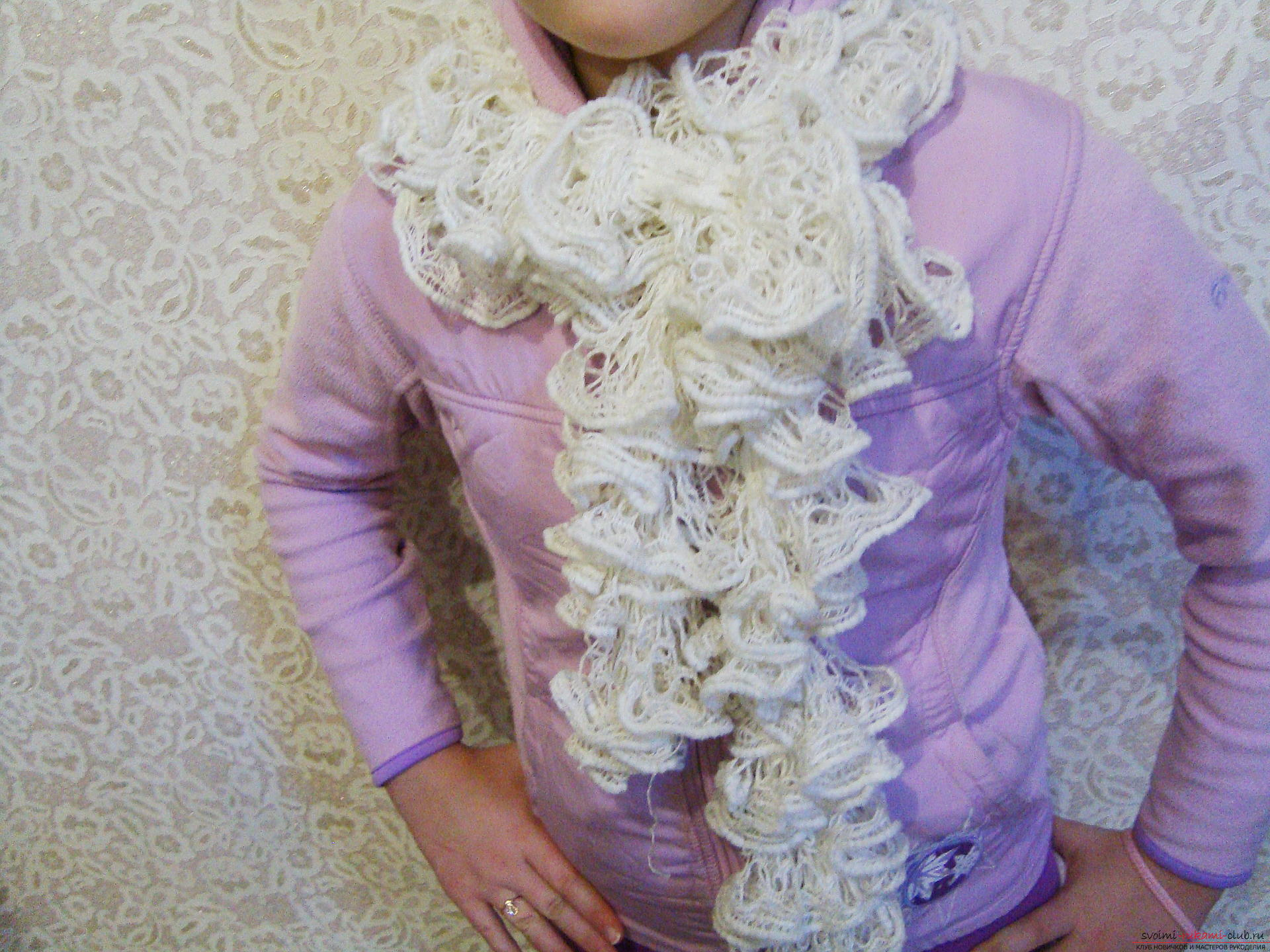 A detailed master class will tell you. how to knit with a scarf fashionable in 2016 .. Photo # 7