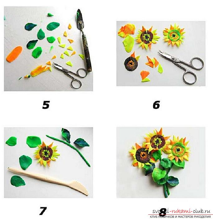 Lessons on modeling and creation of hand-made articles on the theme of flowers for children. Master classes on modeling flowers from various materials .. Photo # 5