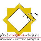 Creation of hand-made paper from their hands in the origami technique for children of 5 years .. Photo №15