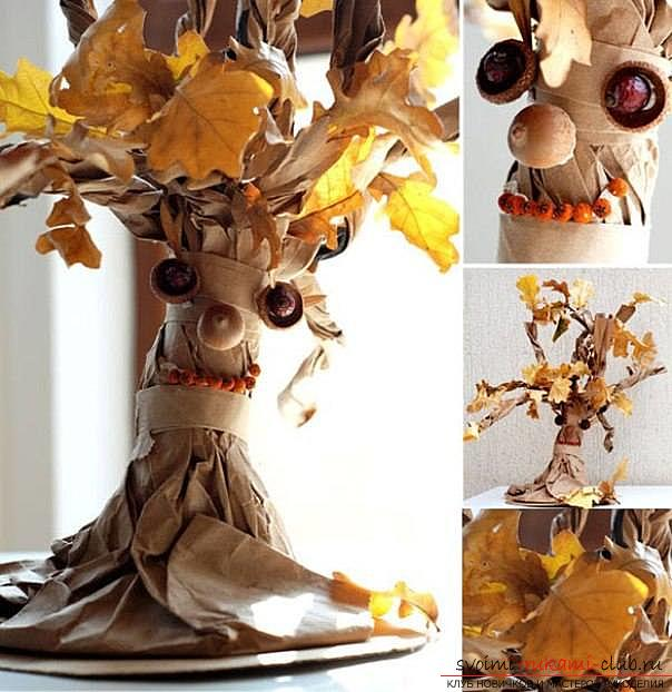 Master classes on the manufacture of autumn crafts made of natural materials with their own hands for children and adults. Photo Number 11
