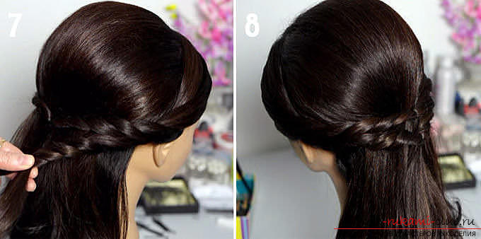 Master classes on creating hair styles for hair of medium length with their own hands. Photo №25