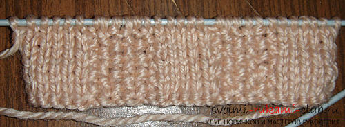 How to tie a rubber band with knitting needles is easy and fast. Photo Number 9