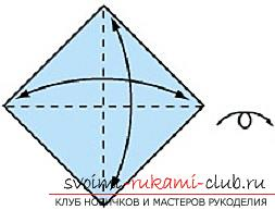 Detailed instructions with schemes for performing the classic crane origami. Photo №1
