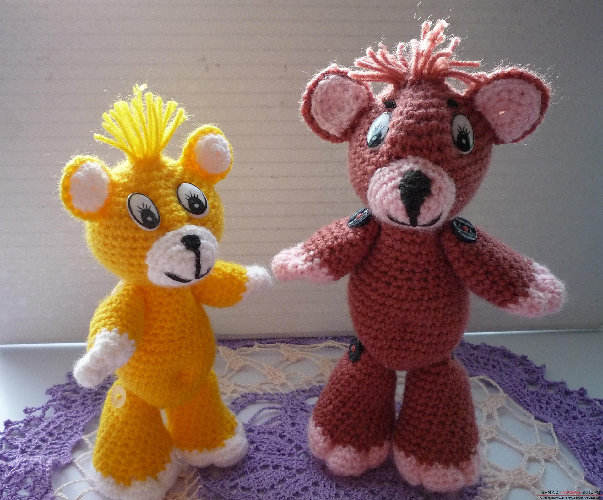 This master class of soft toys will teach crochet teddy bear Amigurumi. Picture №33