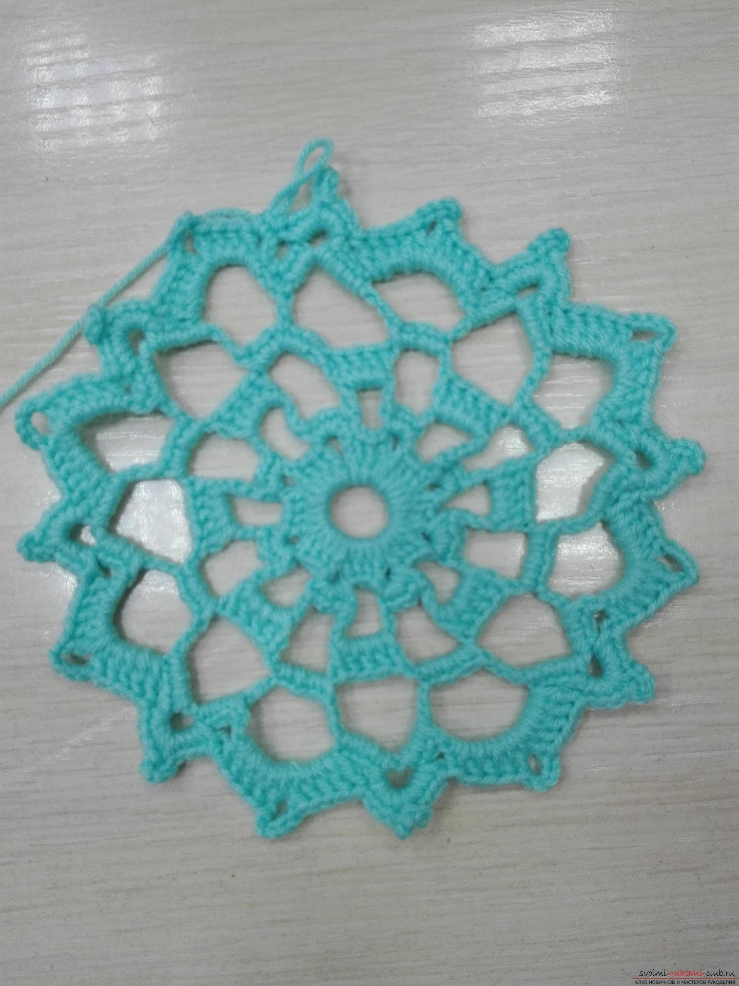 A master class on crocheting an openwork napkin will be clear even for beginners. Photo №13