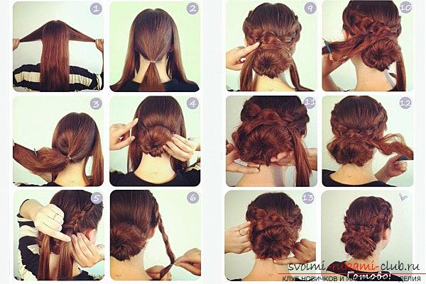 Lessons on the execution of fashionable in 2016 hairstyles on medium hair with their own hands. Picture №3