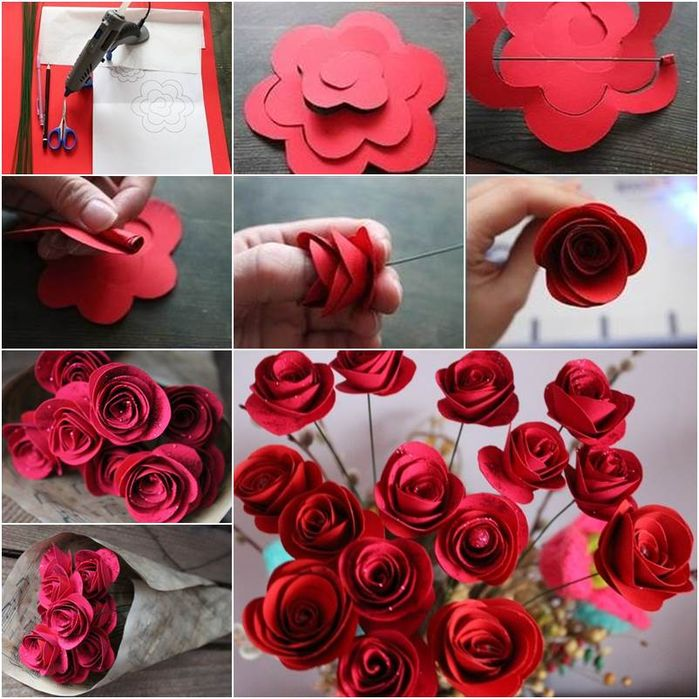 How to make a rose from paper with your own hands