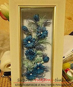 How to make a New Year's panel with flowers in the quilling technique? Master Class. Picture №3