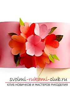 Creation of postcards with their own hands, a card for the mother's day, paper roses from their own hands, advice, recommendations and instructions for creating .. Photo №1