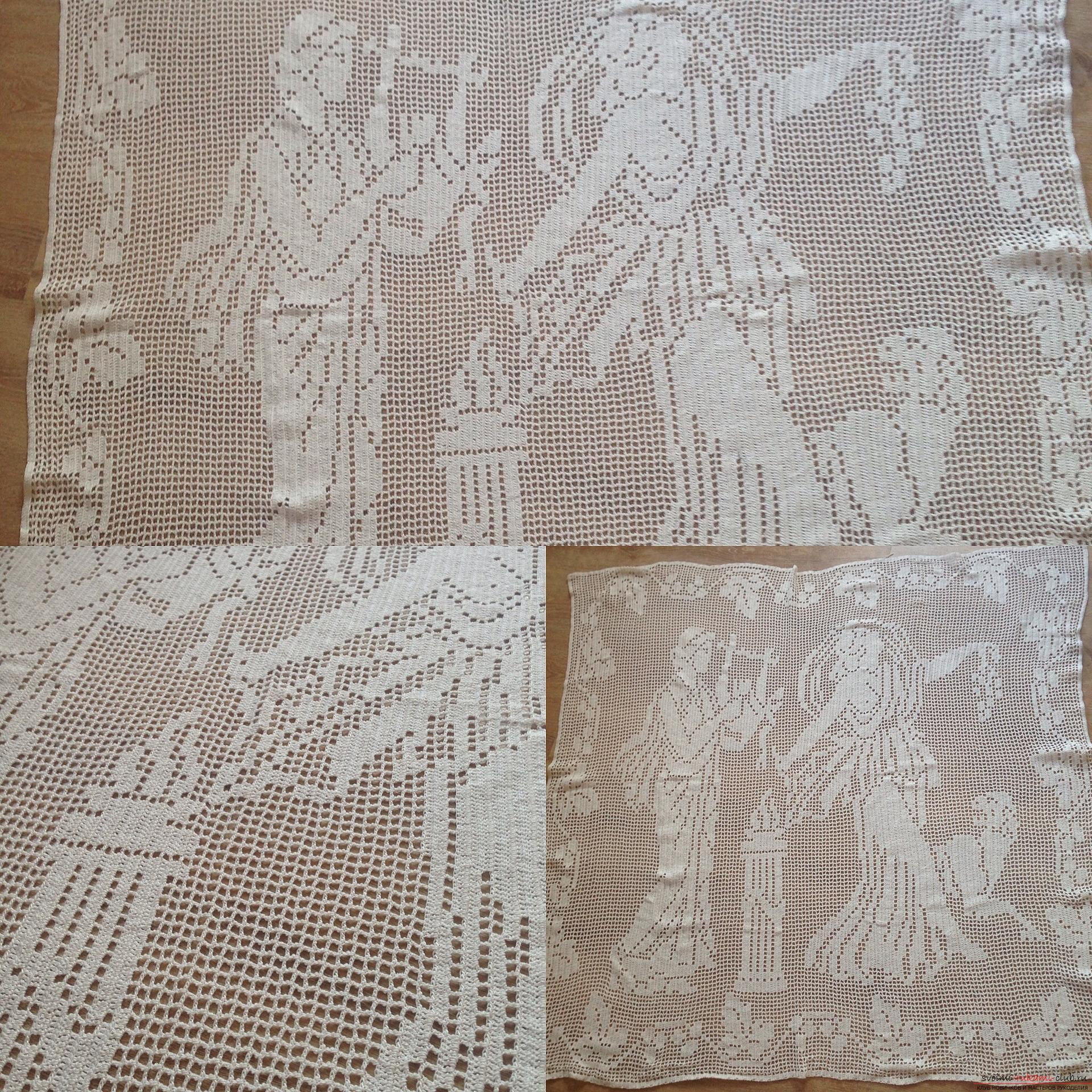 Curtain in the Greek style crochet. Photo №1