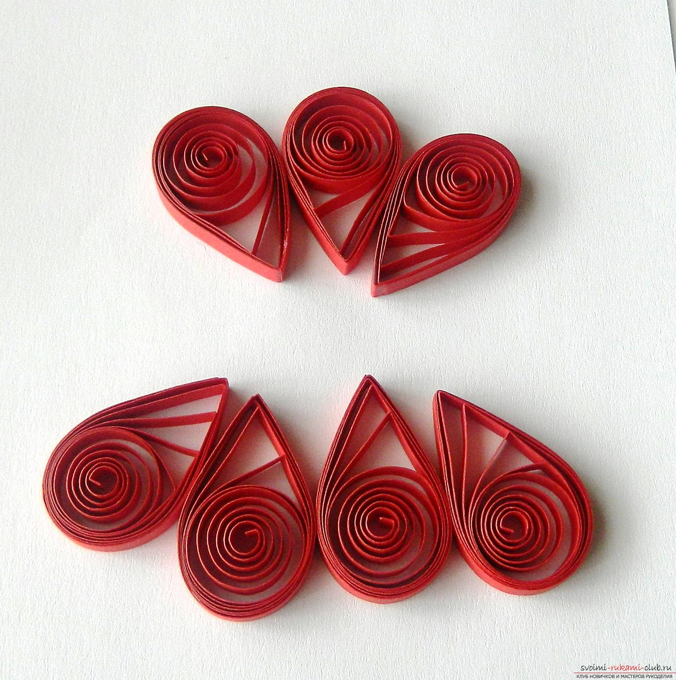 From this detailed master class with a photo you will learn how to create a quilling postcard .. Picture №10