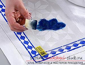 How to paint a cloth at home, with your own hands. Step-by-step instruction and materials for painting the fabric .. Photo №1