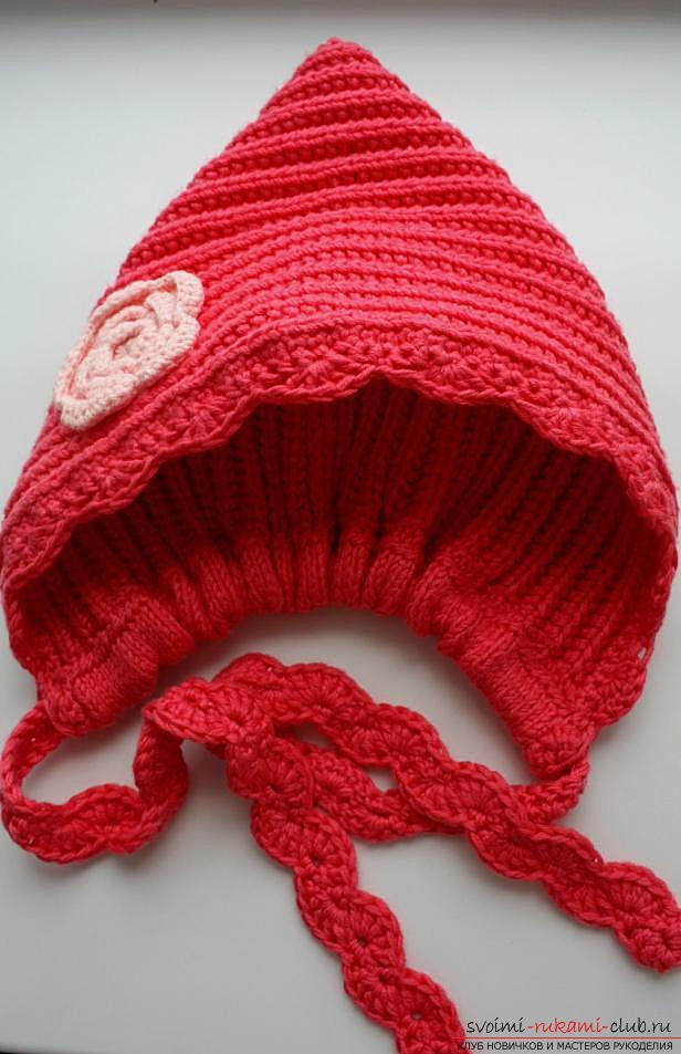 stylish knitted hat for a child. Photo Number 9