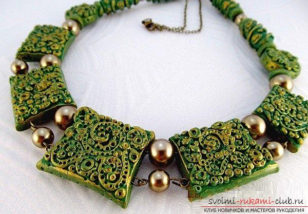 How to create a necklace of polymer clay, detailed step-by-step photos and job description. Photo №1