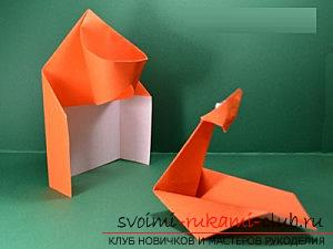 How to create hand-made articles in the classic origami, creating a Christmas tree in the technique of modular origami .. Photo # 38