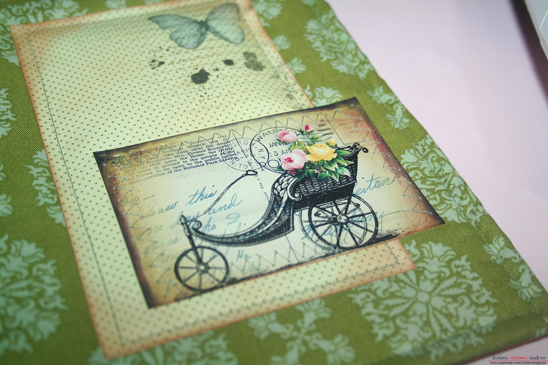 This master class will teach you how to make an original gift for the New Year - scrapbooking notebook. Photo №28