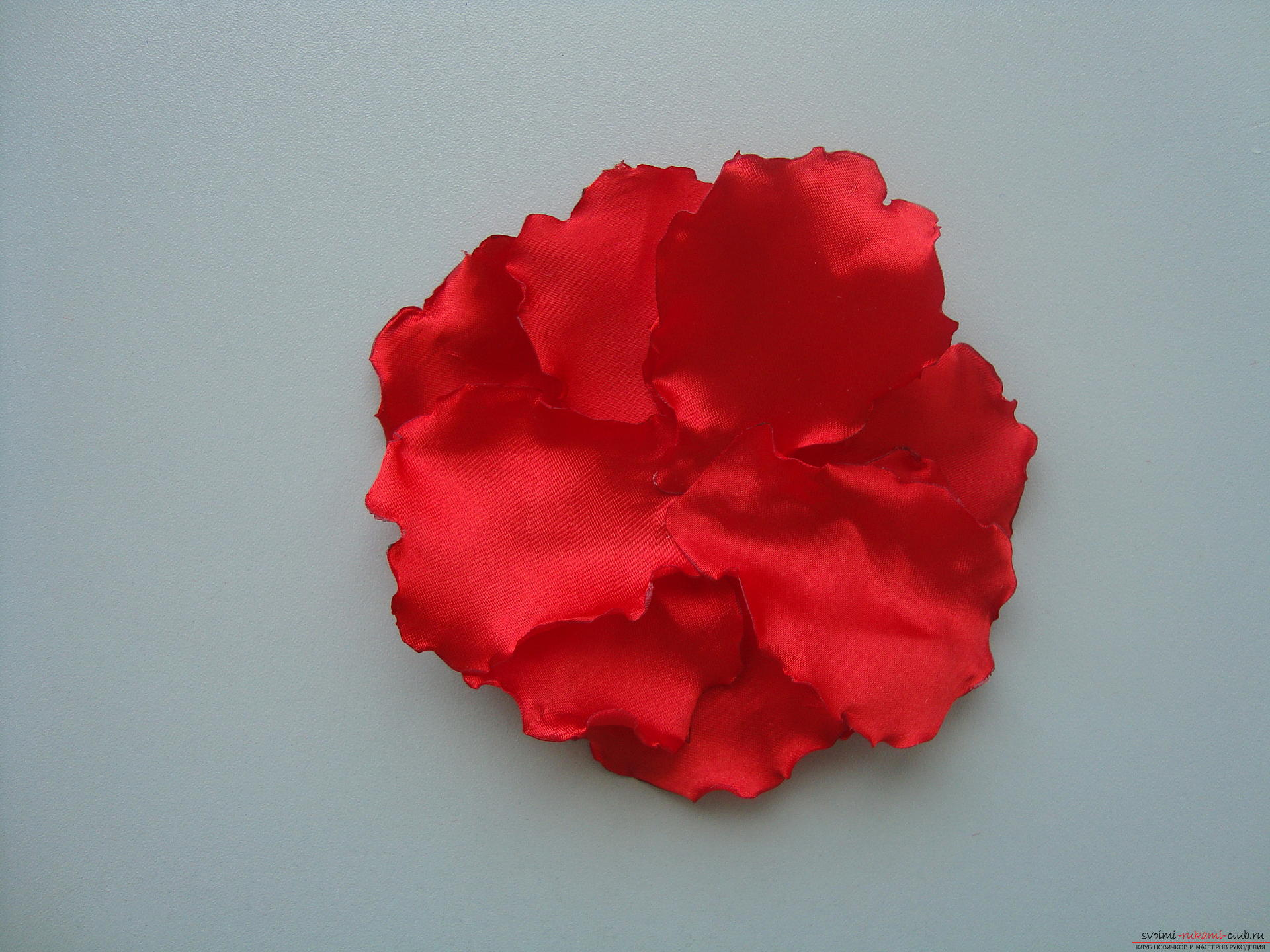 Beautiful scarlet poppies can be made from cloth in Kansas technique .. Photo # 11
