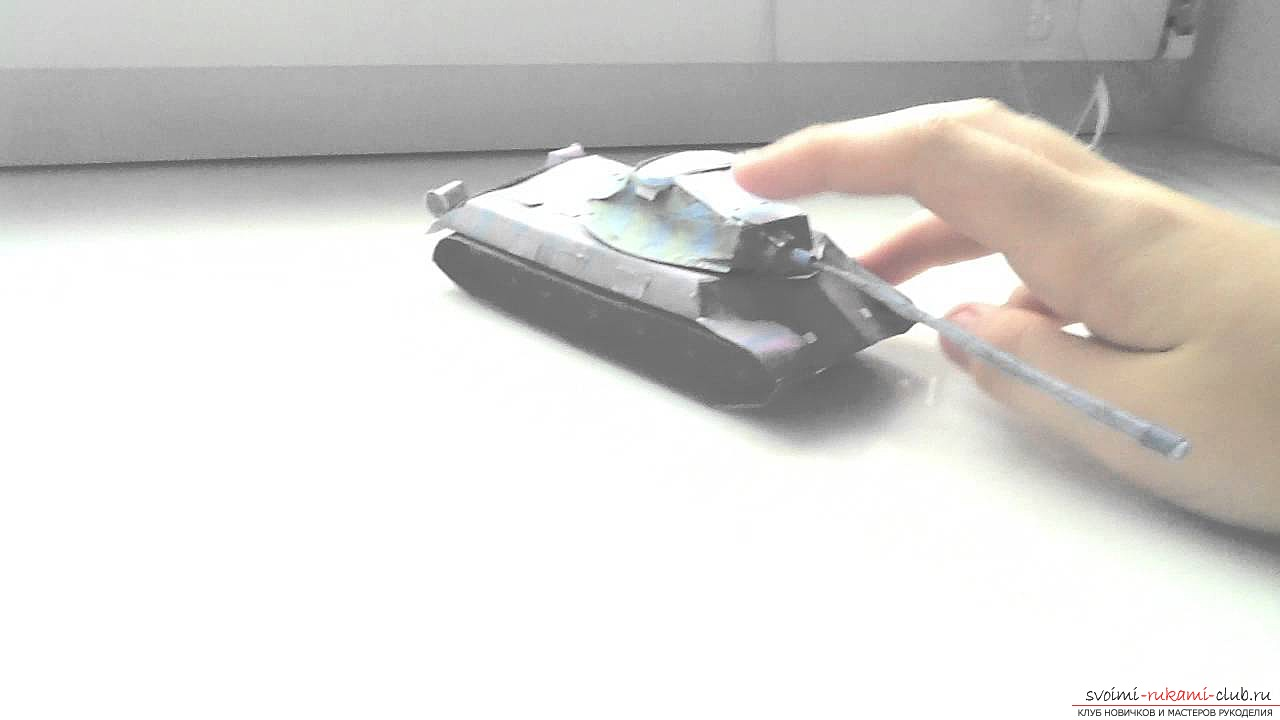 How to make an origami-type tank