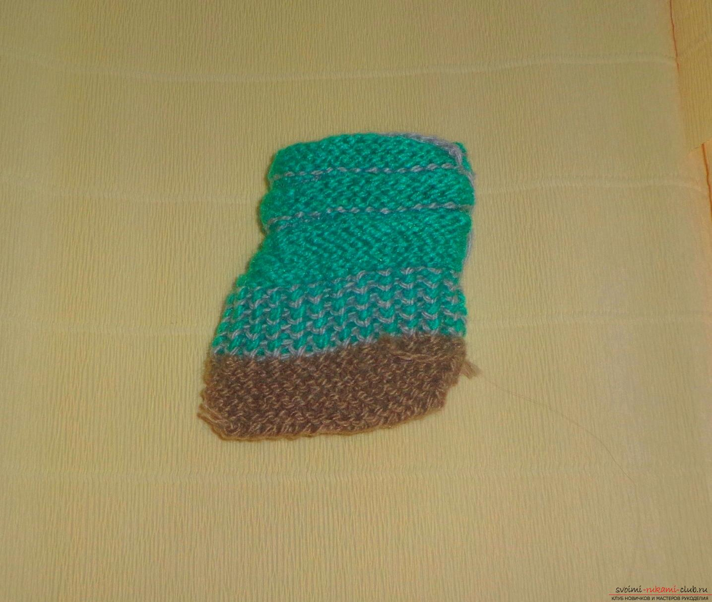 Photos for a lesson on knitting on knitting needles for a boy. Picture №10