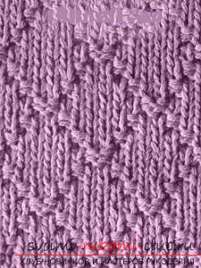 We learn to knit patterns with knitting needles: a lesson for beginner needlewomen. Photo №5