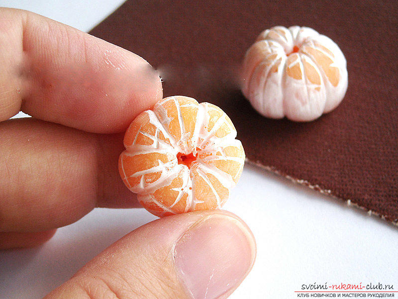 Lessons and master classes with a photo on the sculpture of fruit beads and a whole mandarin .. Photo # 24