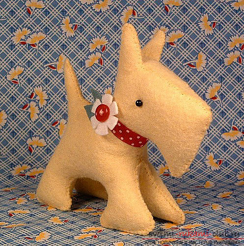 We master the dog from the felt with the help of pattern and recommendations .. Photo №1