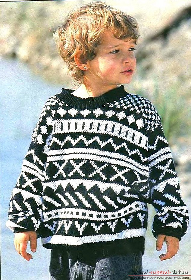 free knitted sweater for boy. Photo №1