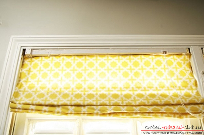 Roller blinds with their own hands. Picture №10