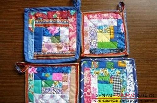 Pannenlap naaien in de patchwork-techniek voor beginners. Fotonummer 11