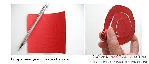 Quilling of a beautiful rose with your hands - a master class in quilling technique. Photo №6