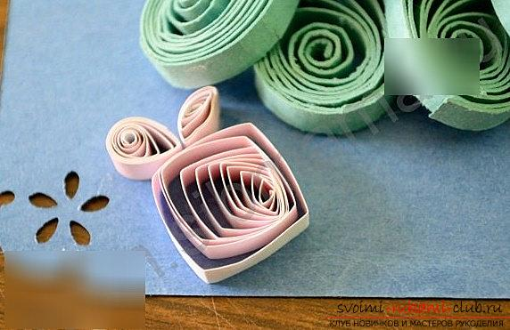 New Year's Quilling postcard - a three-dimensional postcard with your own hands. Photo №6