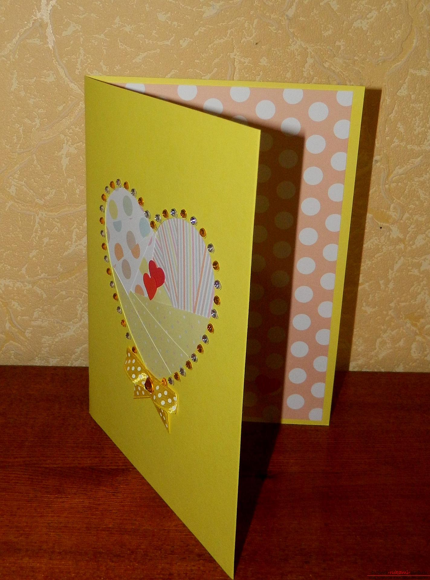 This master class will teach you how to make a card with your own hands in the style of ayris folding .. Photo # 17