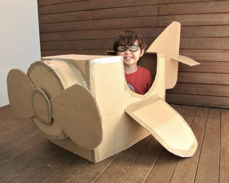 Craftwork from cardboard boxes