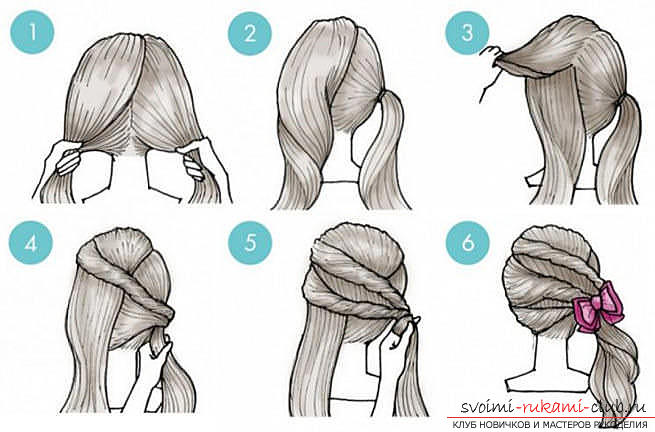 Master classes on creating hair styles for hair of medium length with their own hands. Photo №7