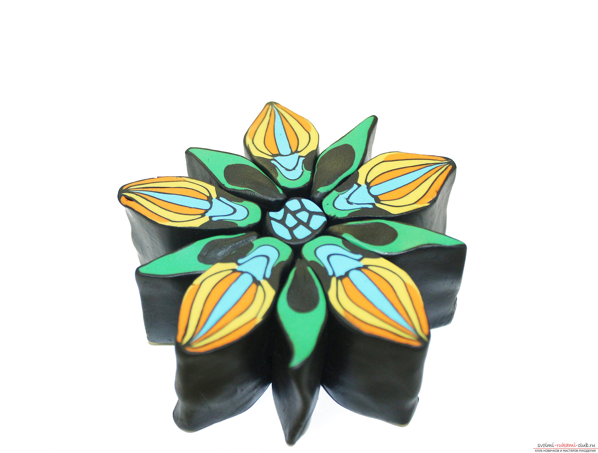 This detailed master class contains techniques for working with polymer clay and will teach you how to make a kein and beads made of polymer clay. Photo # 34