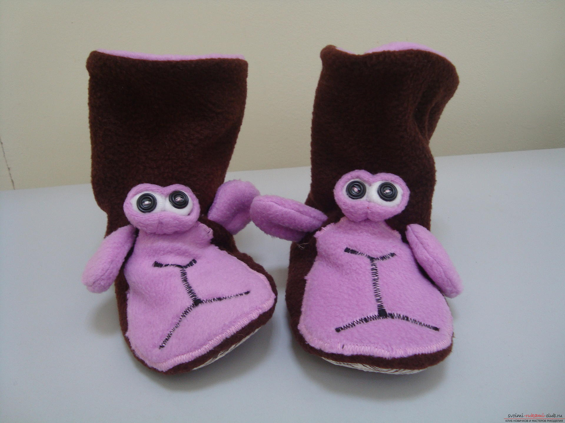 This master class will teach how to sew hand-made slippers with the symbol of the year - the monkey .. Photo # 5