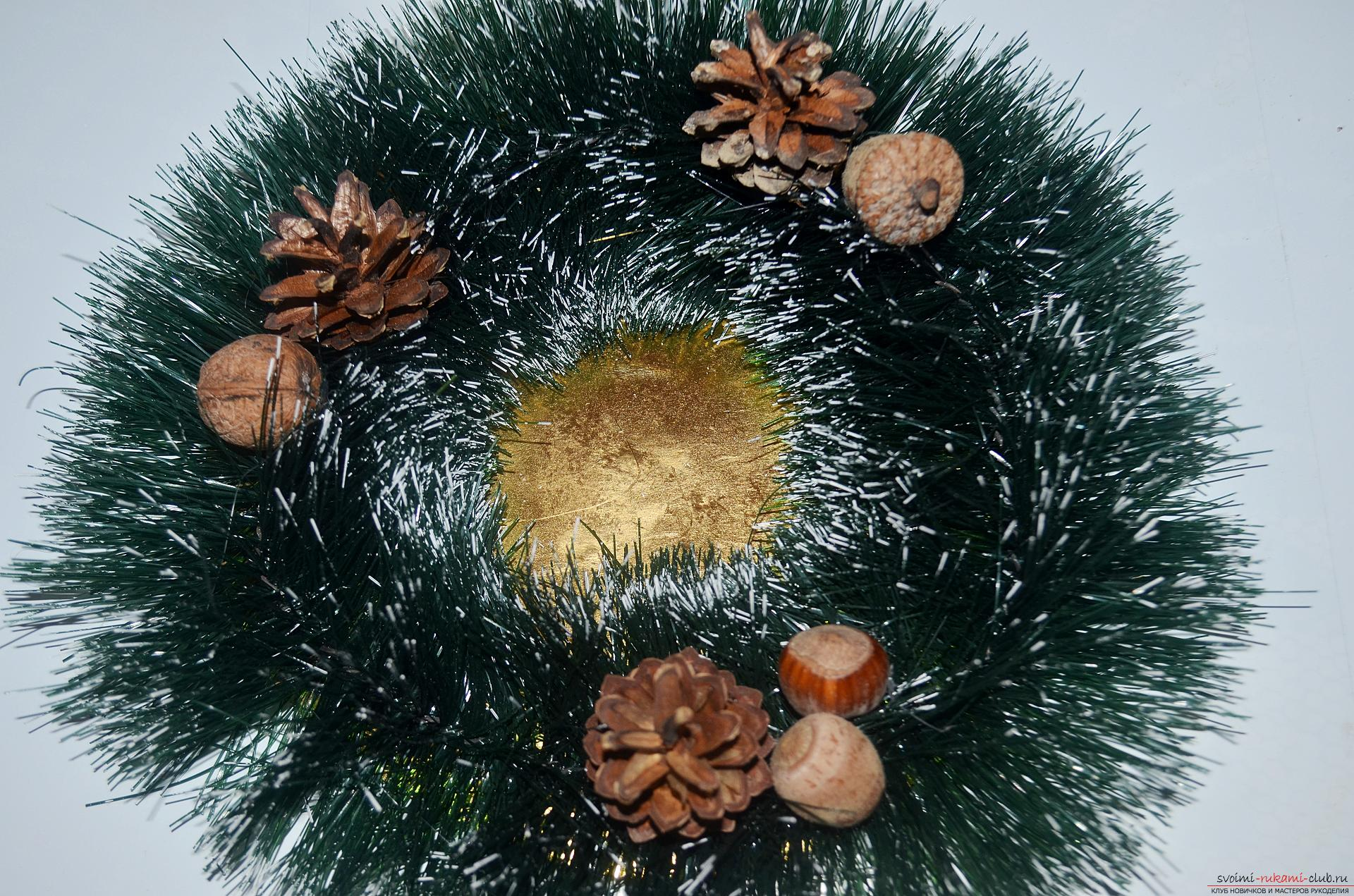 The master class will tell you how to make your own handiwork - a Christmas song with a candle. Photo №4