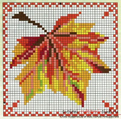 Autumn novelties embroidery cross your own hands easily and quickly. Photo №1