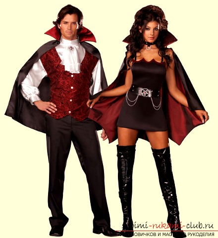 Vampire costume with your own hands. Photo №1