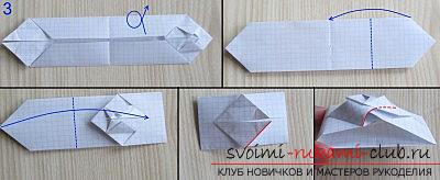 A simple model of a tank made of paper, origami technique. Picture №3