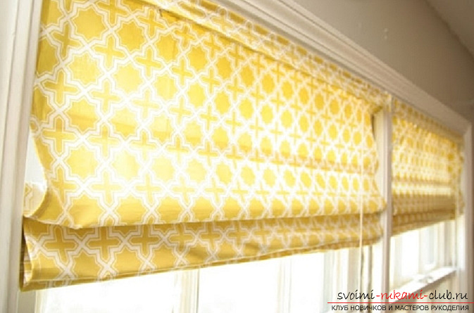 Roller blinds with their own hands. Photo №13