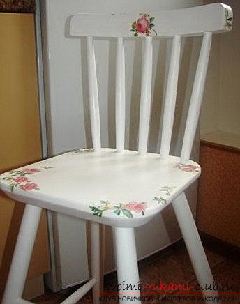 Decoupage chairs in the styles of Provence, Vintage, Viennese style: for home. Photo №1