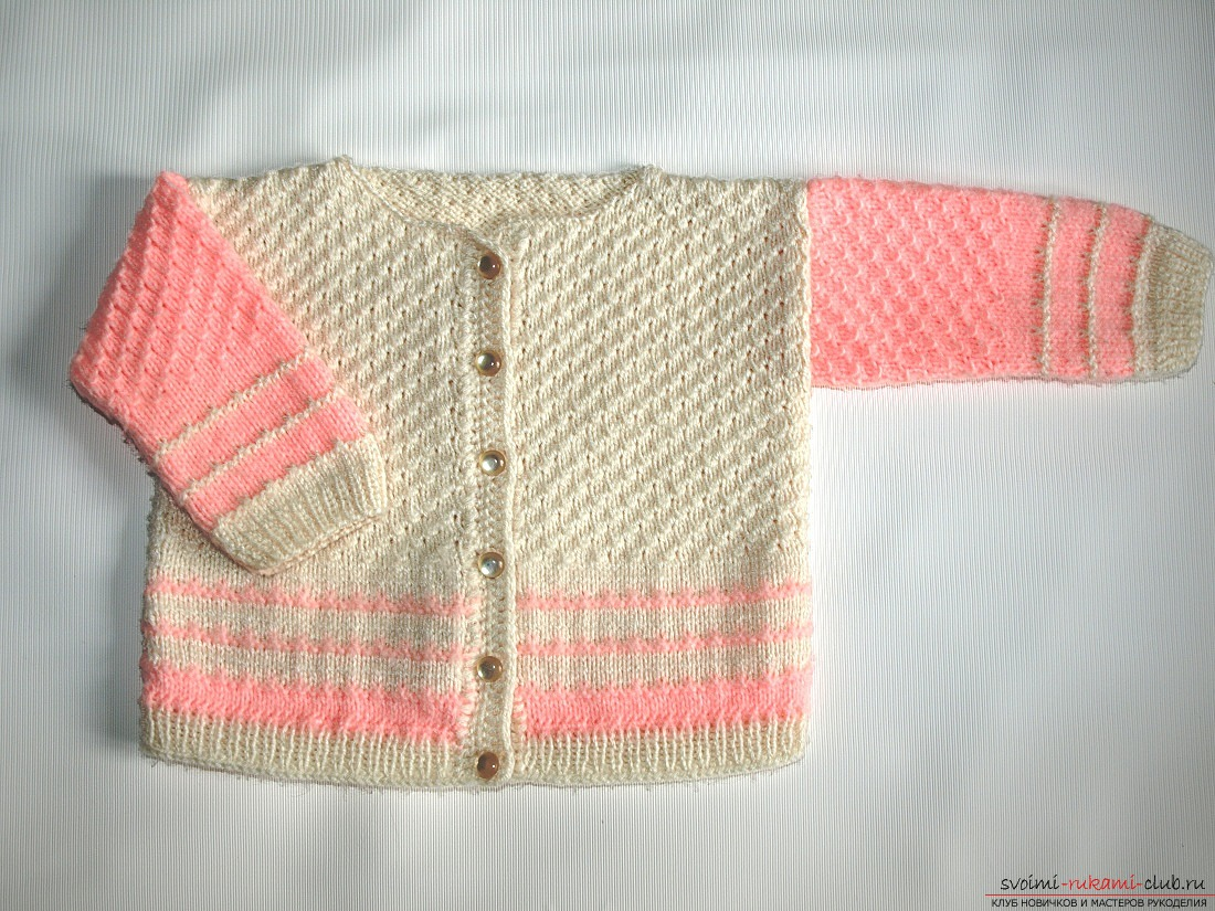 Knitting a baby blouse with knitting needles. Diagram and photo for beginner needlewomen. Photo №5