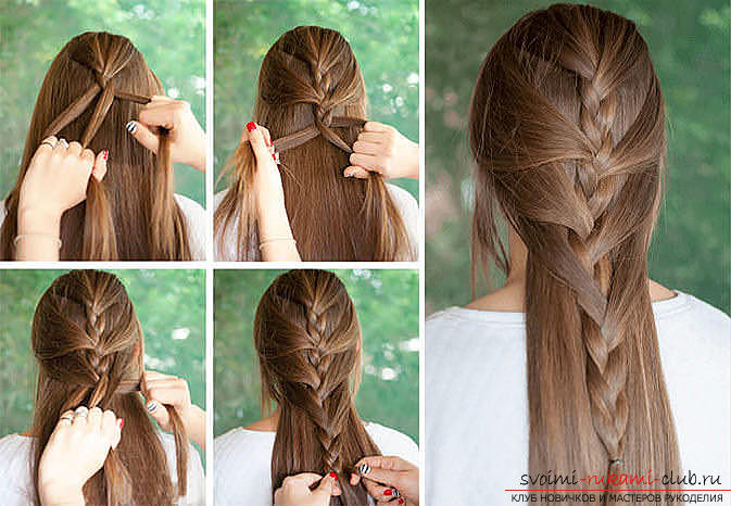Master classes on creating hair styles for hair of medium length with their own hands. Photo №6