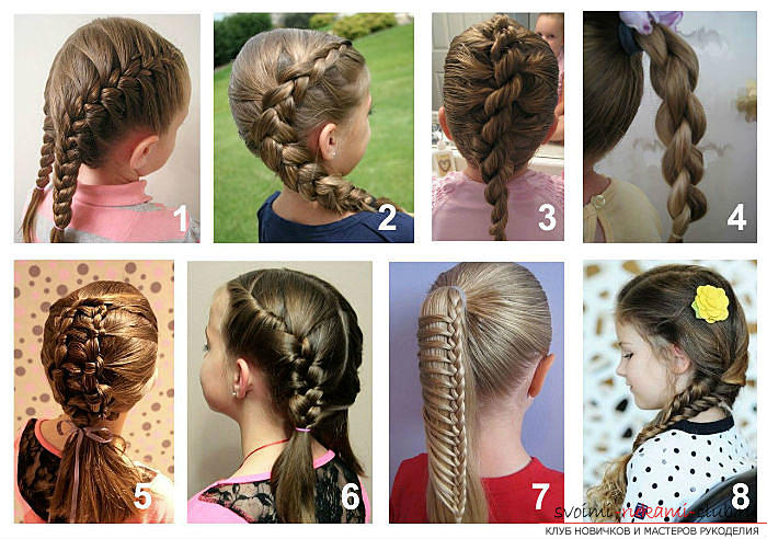 Easy beautiful hairstyles for school. Photo # 2