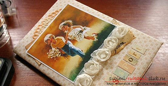 Scrapbooking women's passport passport with flowers and drawings - master class. Photo №4